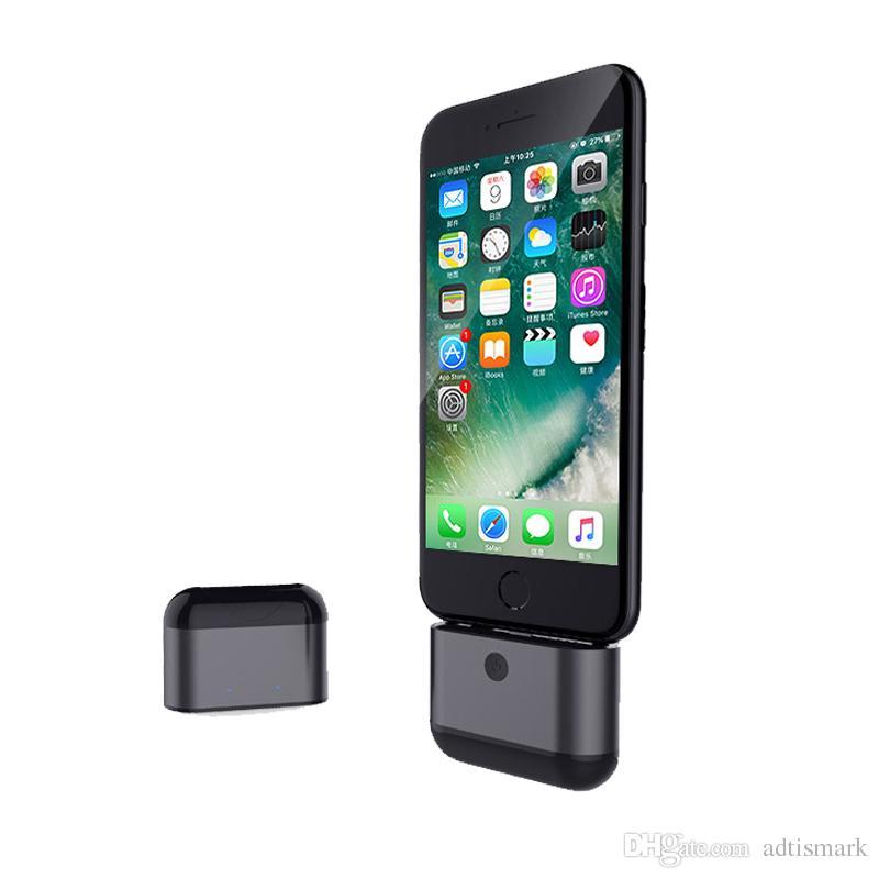 Commercio all'ingrosso nuovi Mini Twins senza fili Bluetooth 4.2 auricolari Dual Earbuds scatola di ricarica con microfono iPhone Xiaomi Huawei Smartphone