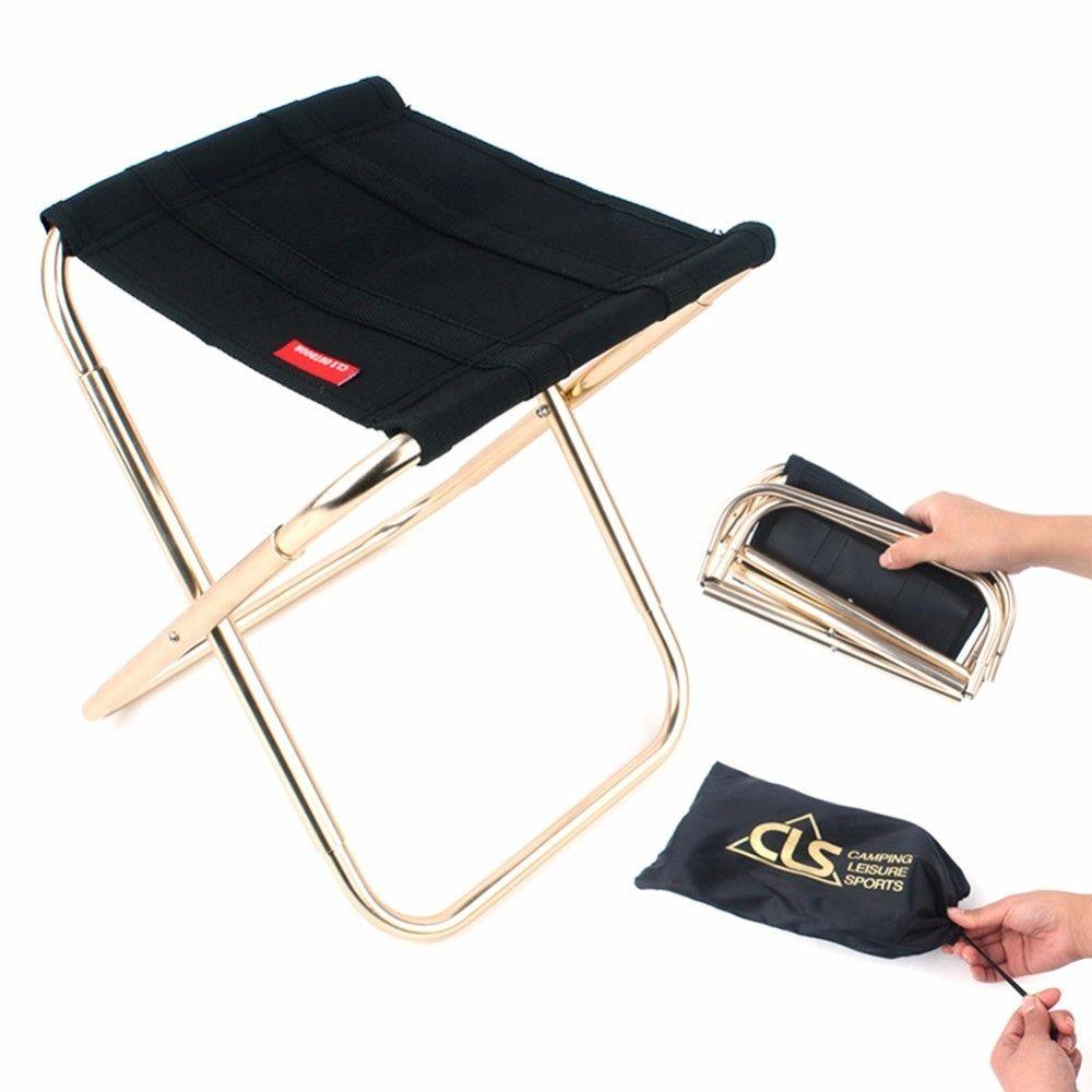 New Lightweight Outdoor Folding Chair Camping Aluminum Alloy Fishing,Chair  Bbq Stool,Outdoor Mini Portable Folding Chair Cheap Garden Furniture Wooden  Patio ...