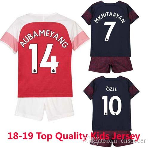 huge selection of 18601 f8009 Thailand Arsenal soccer jersey 2018 2019 AUBAMEYANG OZIL JERSEY 18 19  LACAZETTE TORREIRA football kit Top quality KIDS kits soccer shirt