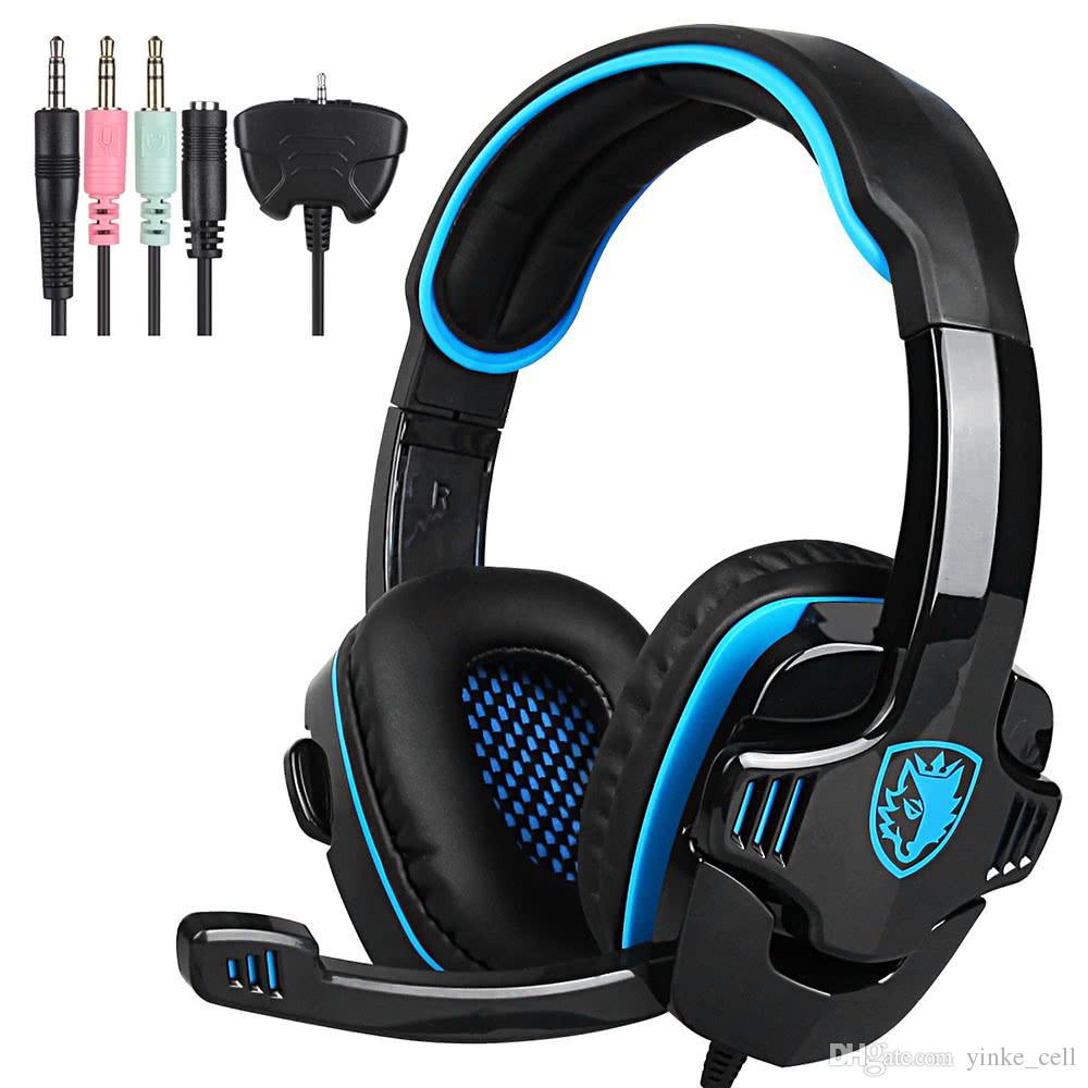 eed9389fb15 Wired Gaming Headset Earphone Headband Headphones With Microphone For PC LOL  Game IPhone PS4 Samsung SmartPhones Wireless Headphone Dj Headphones From  ...