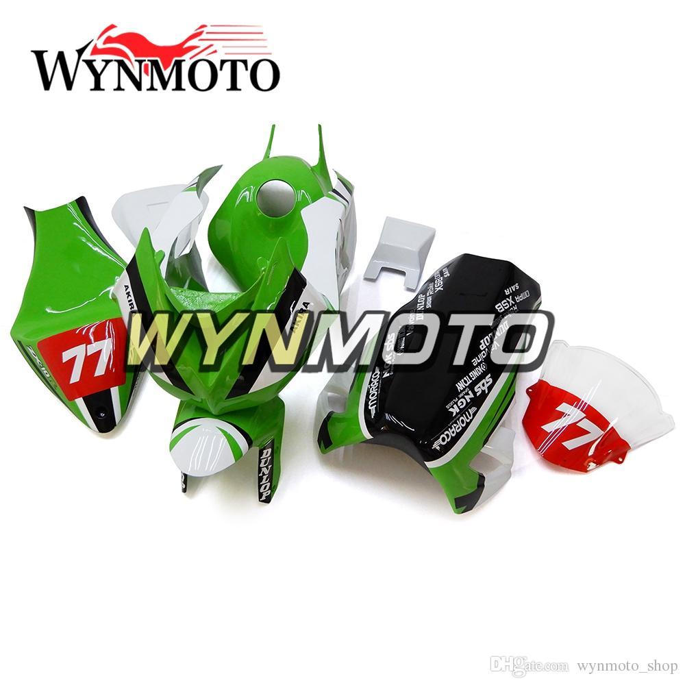 White Green Fiberglass Fairings for Kawasaki ZX-10R ZX10R 2008 ...