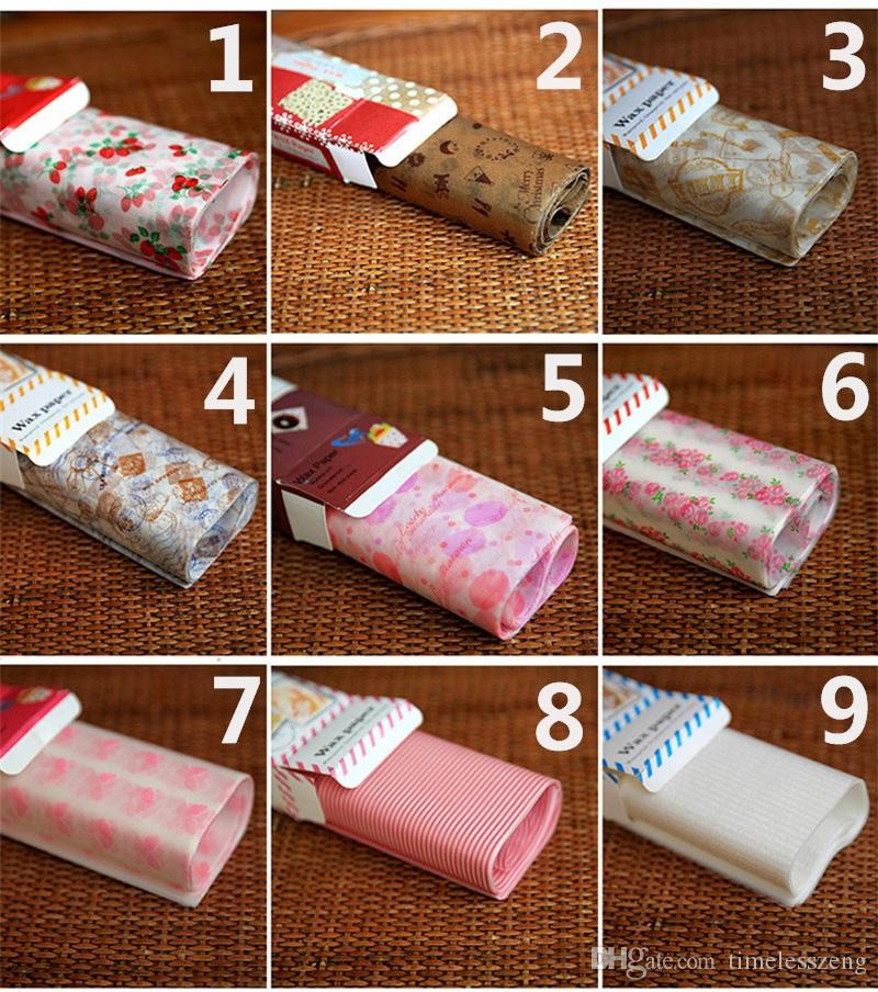 50 Yaprak / Set Wax Kağıt 25 * 21.8 cm Nuga Sabun Hamburg Gıda Sarma Pişirme Kağıt DIY Ev Partisi aracı