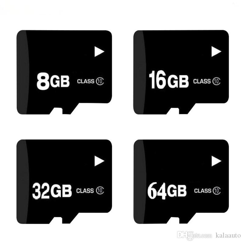 100% Real capacity 4GB 8GB 16GB 32GB Class 6 Memory Card + Free SD Adapter + White Plastic Storage Case Epacket
