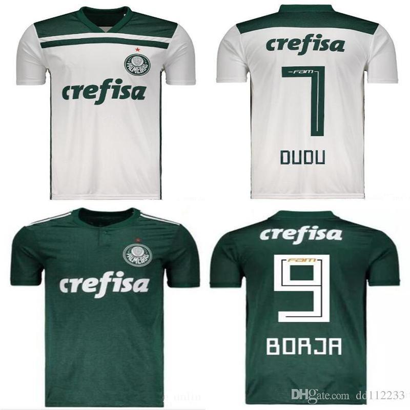 88fead896f Compre 2018 2019 New Camisas De Futebol De Palmeiras Home Away DUDO G.JESUS  LUCAS LIMA Keno Willian XAVIER 18 19 Camisas De Futebol Para Adultos De ...