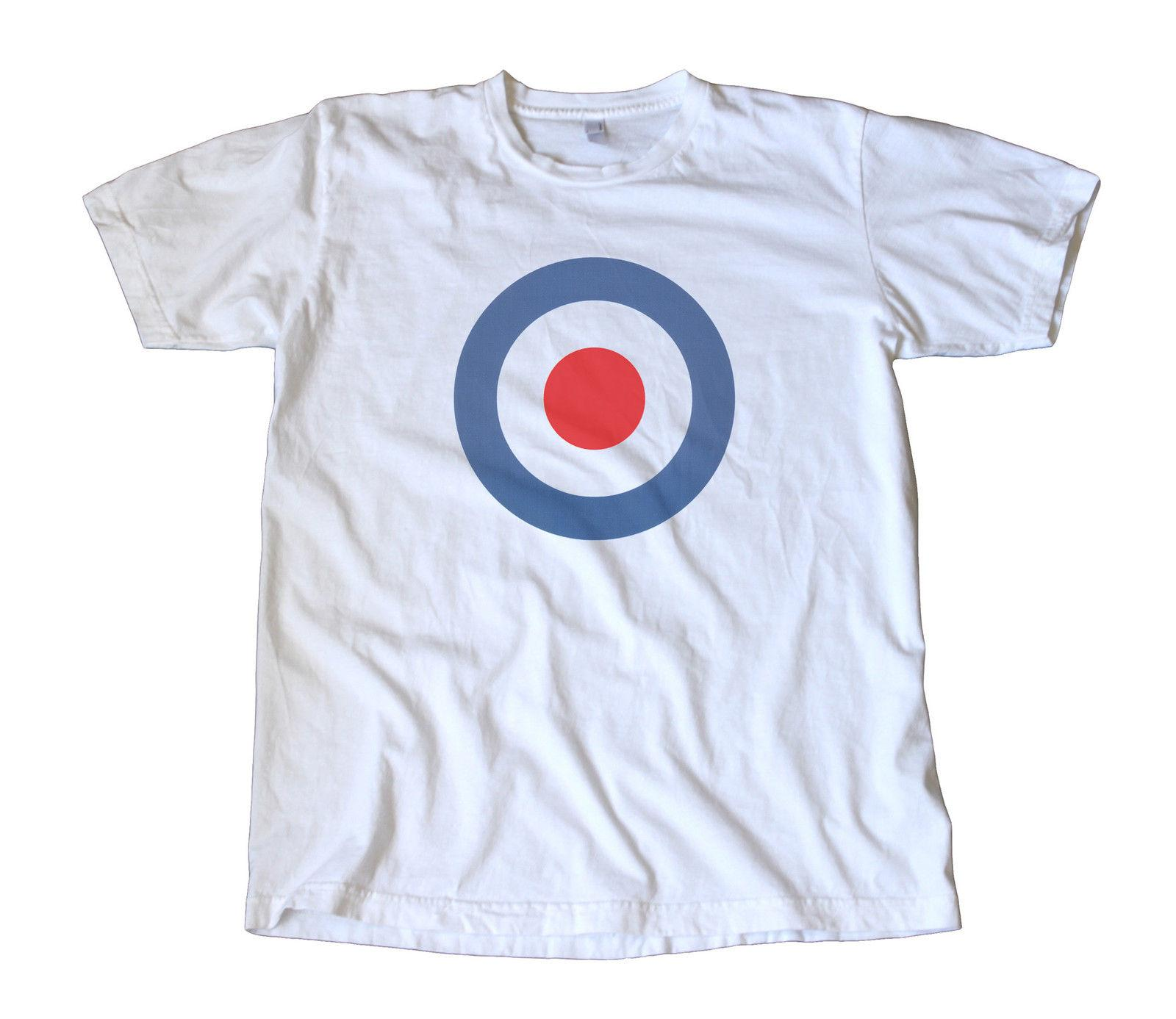 differently a7bfb 74f71 Vintage Classic RAF Decal T-Shirt - The Who, Mod, Vespa, Lambretta, Scooter  summer Hot Sale Men T-Shirt Top New Tee Print