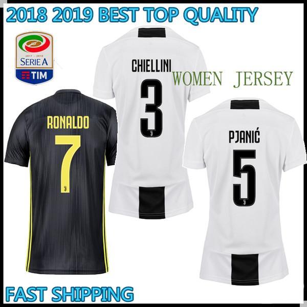 dc997061edc 2019 2018 2019 Woman Juventus Soccer Jersey 18/19 Home Away 7 Ronaldo  Soccer Shirt CHIELLINI HIGUAIN DYBALA MANDZUKIC Girl Football Uniform Sales  From ...
