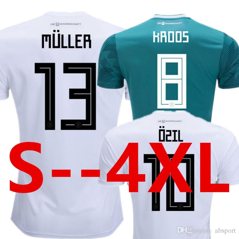 fda322047 2018 Soccer Jersey Kroos Ozil World Cup 2018 Muller Hummels Germany Kimmich  Drahler Fans Player Version Aaa Top Thailland National Football Shirt From  ...
