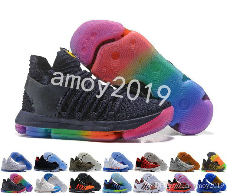 premium selection 3ecf9 199ad 2018 New KD 10 X KD10 White Chrome Pure Platinum Men Basketball Shoes Kevin  Durant Sports Mens Trainers Sneakers Size 40 46 Canada 2019 From Amoy2019,  ...