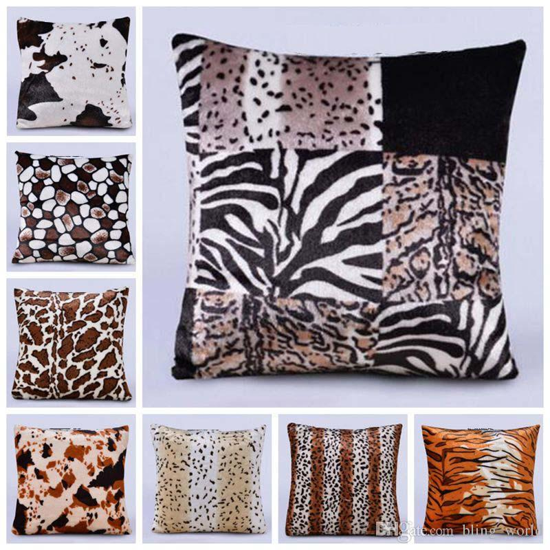shams print pillow leopard sham