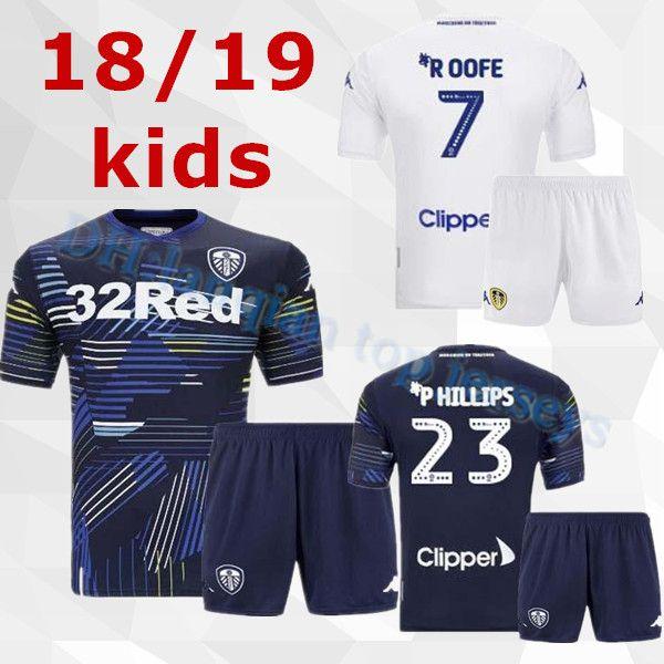 d39be7408 Kids 18 19 Leeds United Jersey 2018 2019 ALIOSKI JANSSON BAMFORD ...