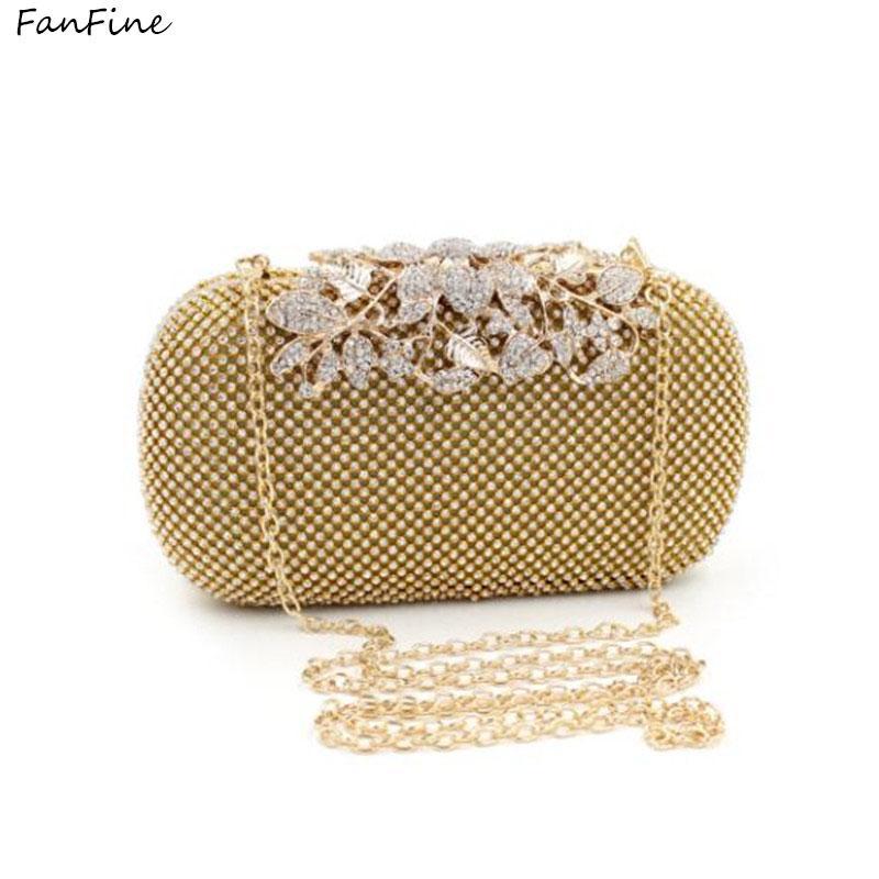 a0108641d FanFine Flower Crystal Evening Bag Clutch Bags Clutches Wedding Purse  Rhinestones Wedding Handbags Silver/Gold/Black Evening Bag Purses Wholesale  Black ...