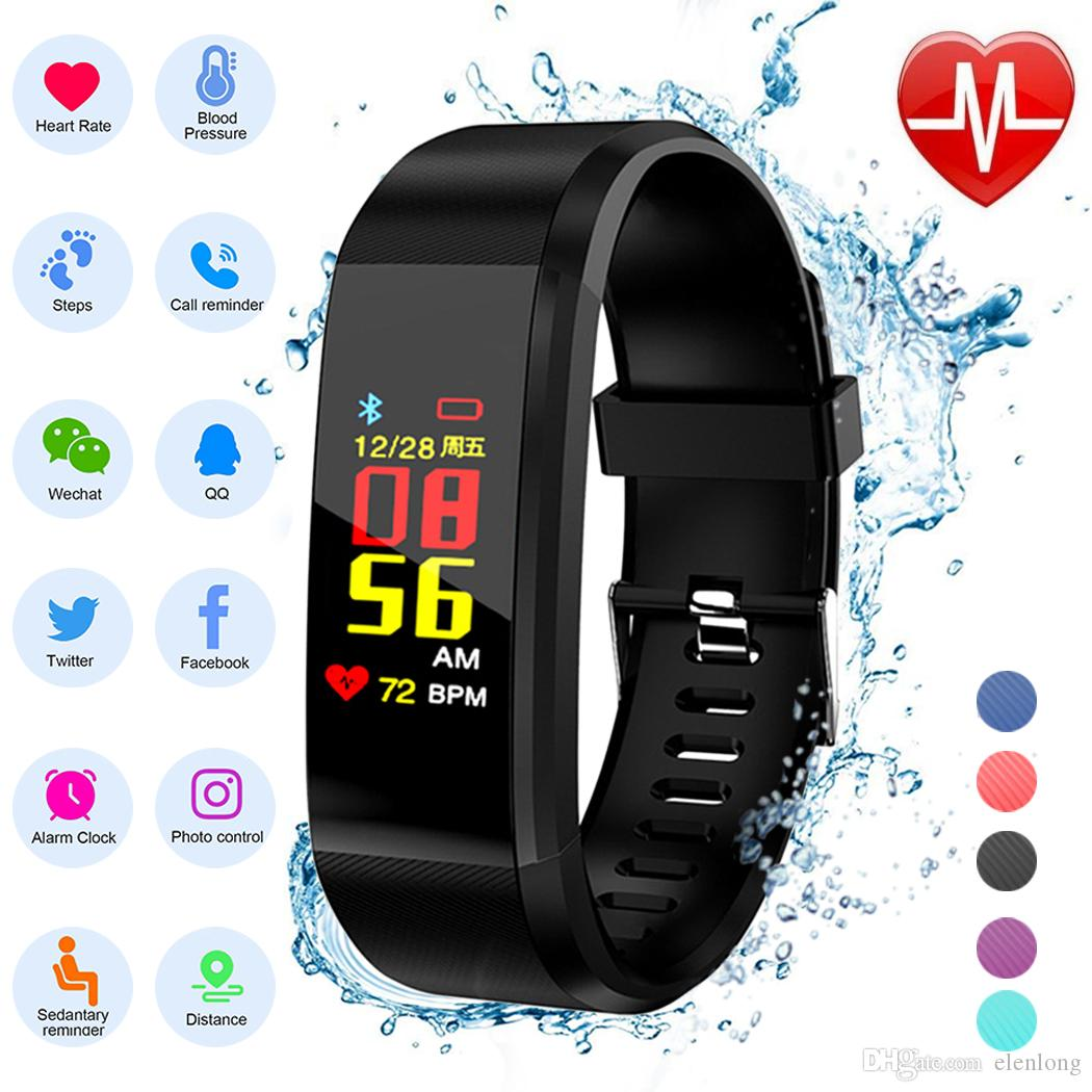 Careful Unisex Soft Silicone Watch Strap Smart Wristband Hr Sleep Monitor Pedometer Fitness Tracker Smart Watch Watches