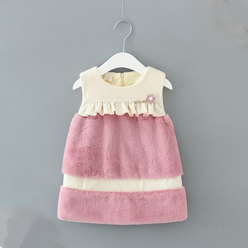 96d98b6b7a0b 2019 Baby Girl Dress Winter Clothes For Girls Princess Sleeveless ...