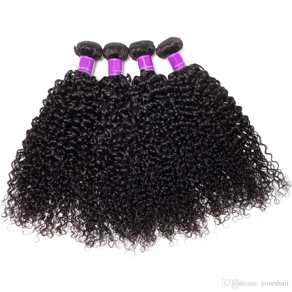 4 Bundles With Lace Closure Mink Brazilian Deep Curly Jet Natural Black Color Hair With Closure virgin Deep Curly Hair Bundles