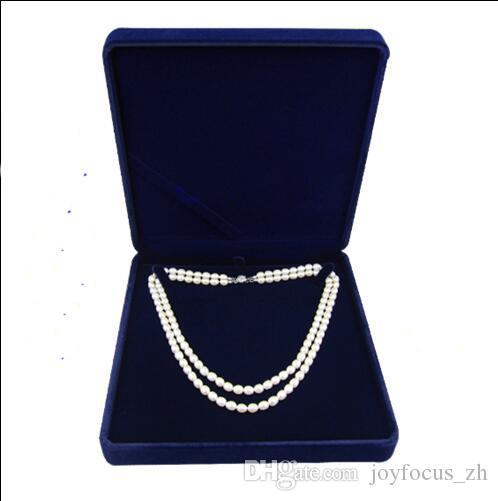 Online Cheap Velvet Jewelry Box Long Pearl Necklace Box Gift Box For
