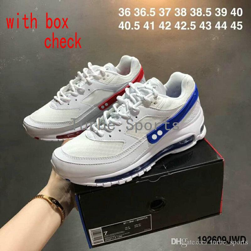 2018 New Brand Shoes 97 97s BW x Skepta Sk White Blue Red London x Marrakesh Mens Womens Running Shoe Cushion Sports Sneakers cheap sale low shipping fee IUhNlgaK