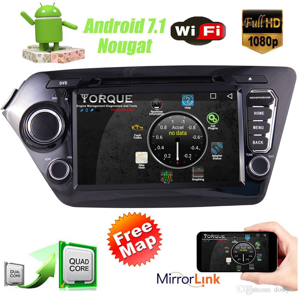 "2Din 8"" Android 7.1 Car Audio Stereo GPS Navigation Radio Stereo Quad Core car DVD Player Bluetooth 1080P WiFi Steering Wheel Control"