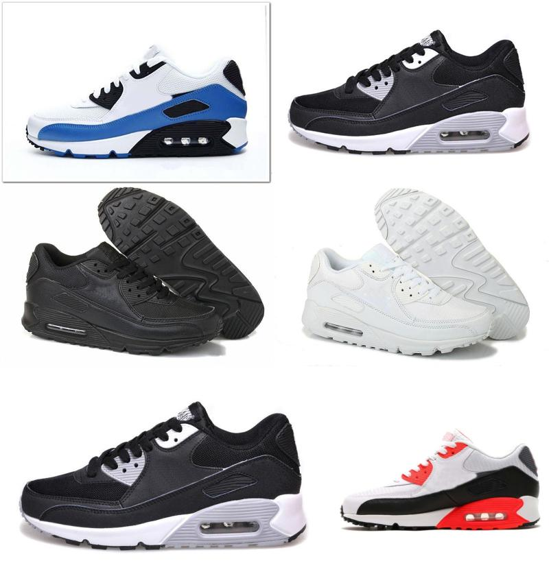 2018 Mens Sneakers Shoes Classic 90 Men And Women Running Shoes Black Red White Cushion Breathable Jogging Hiking Sports Athletic Trainers sale choice buy online outlet outlet hot sale very cheap cheap online MXlEKDp