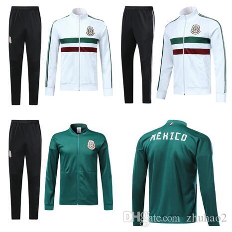 2669d3d6880 2019 2018 World Cup Mexico Soccer Jacket Mexico Tracksuit 18 19 CHICHARITO  National Team Football Jacket Training Top Jacket Pants From Zhuhao2