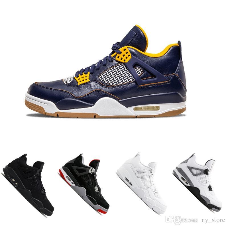 2730a3d1575c 2018 New 4s Men Basketball Shoes Pure Money Premium Black Cat White ...