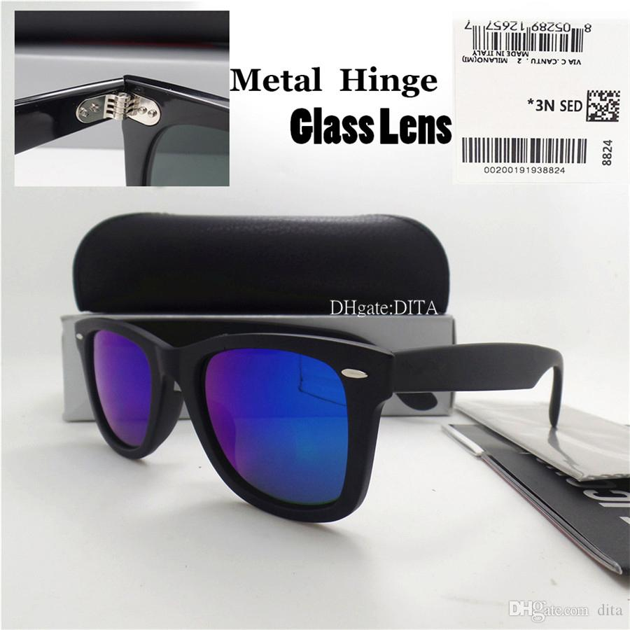 50fc3db5bd4 AAAAA Quality Glass Lens Brand Plank Sunglasses Men Women Fashion Vintage  Flat Sunglasses 52MM Shade Mirror Goggles Sun Glasses With Box Hot Foster  Grant ...