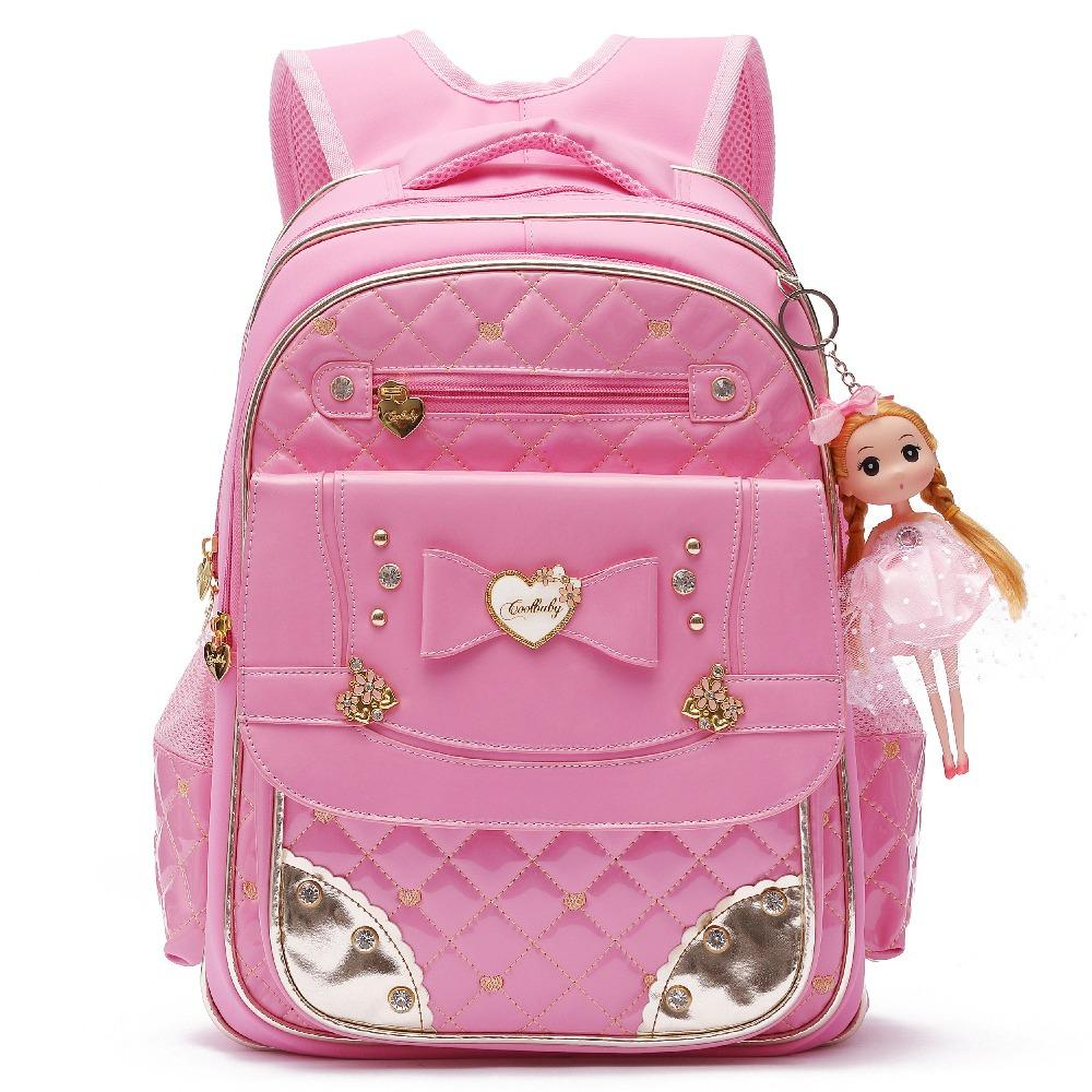 ee2d481c6e56 Cute Waterproof PU Leather Backpack For Girls Princess Style Bowknot  Schoolbag Big Laptop Bookbags Travel Daypack Shoulder Purse Overnight Bags  Kids School ...