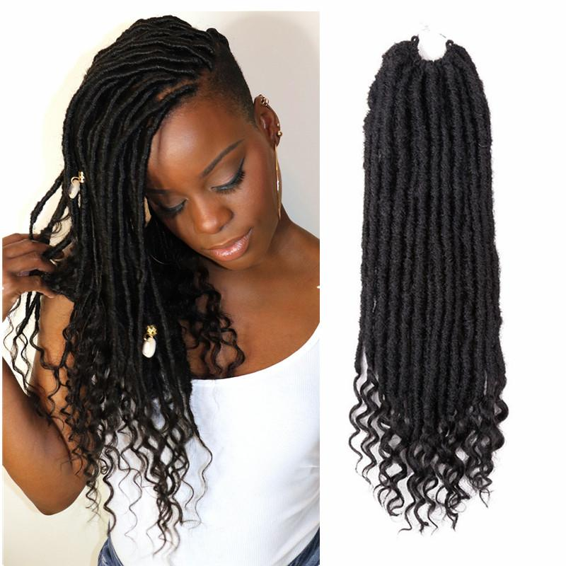 2019 Nu Locs Crochet Hair Extension 18 Inch Faux Locs Curly Soul