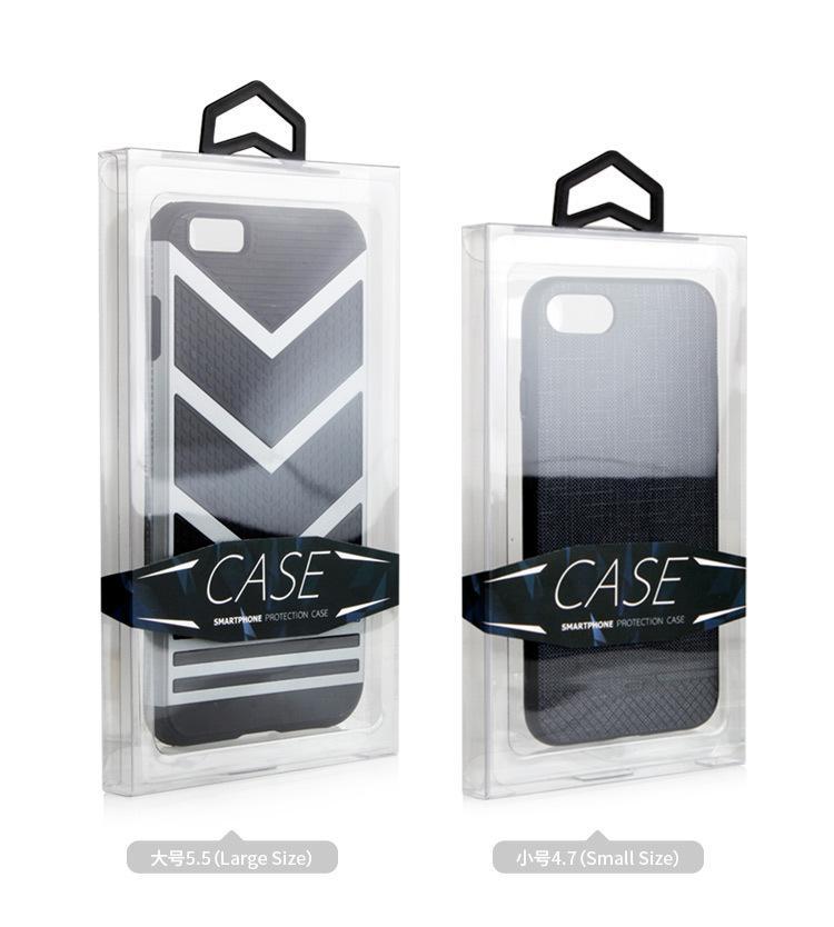 en plastique emballage en PVC emballage cristal emballage personnalisé boîte pour étui de téléphone portable pour Samsung iPhone 6 avec autocollant