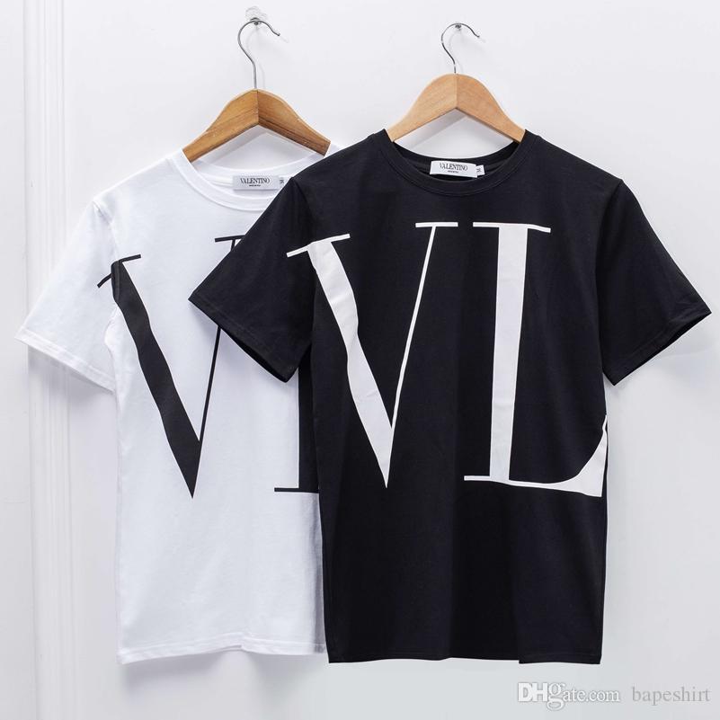 Compre VL Breve Camiseta Camisetas Para Hombres Mujeres Diseñador De La  Marca Camisetas Hombres Mujeres Casual Algodón Camisetas Blancas Para  Hiphop A ... dc3e36b08bd08