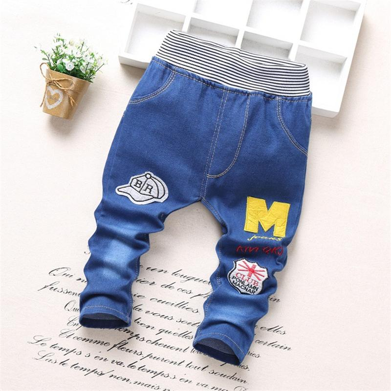 Children Jeans Summer Baby Boy Clothes 2017 Kids Trousers Boy Newborn Baby Clothes Cartoon Spring Baby Pants for 3-6 Years Old