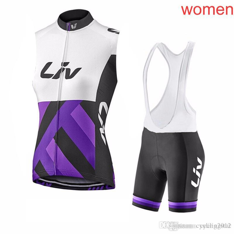 0776a93c5 2018 New LIV Women Cycling Clothing Maillot Ciclismo Bike Sleeveless Vest  Summer Breathable Cycling Jersey Bib Shorts Kit M1403 Custom Bike Jerseys  Mountain ...