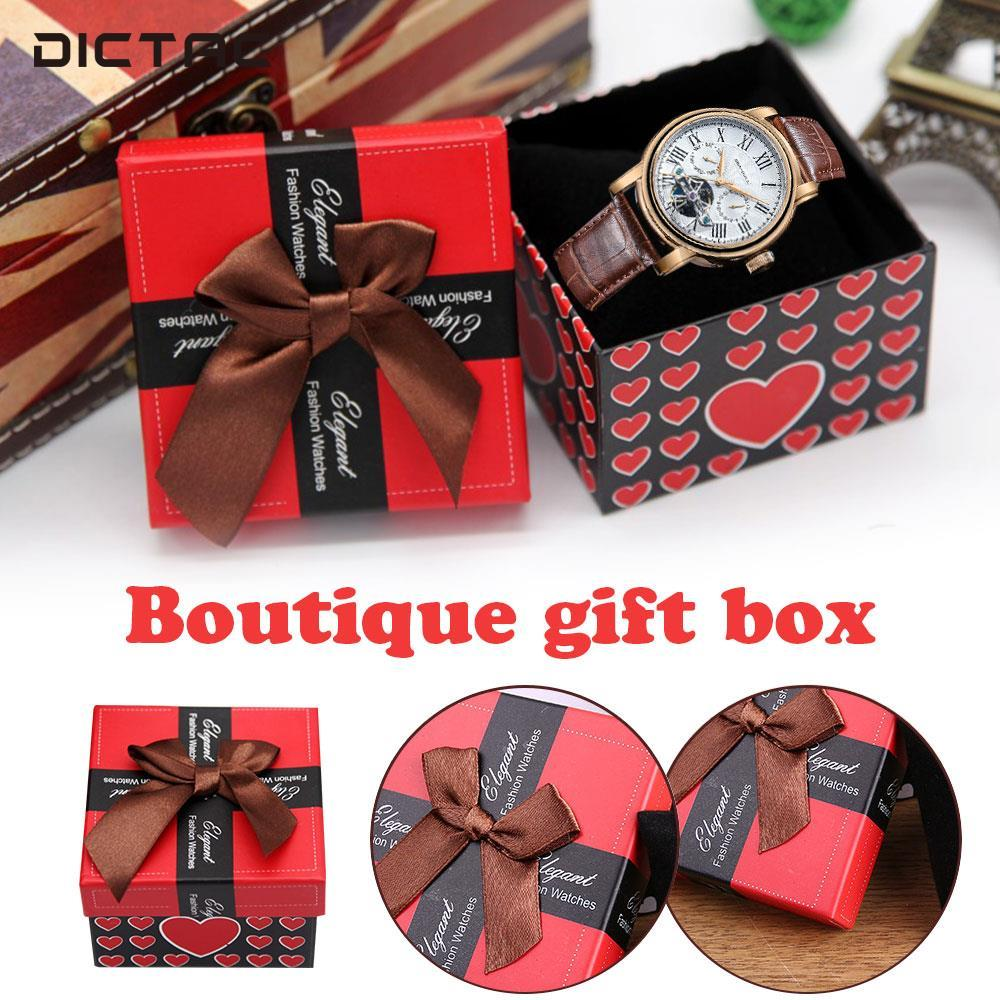 Bowknot A Square Gift Box Watch Box Cute Birthday Packing Pretty Jewelry Candy
