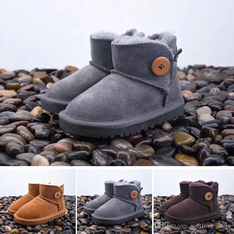 45f8a959b0dd Luxury Brand Kids Girls Ugs Australia Snow Boots Cute Bowtie Back ...