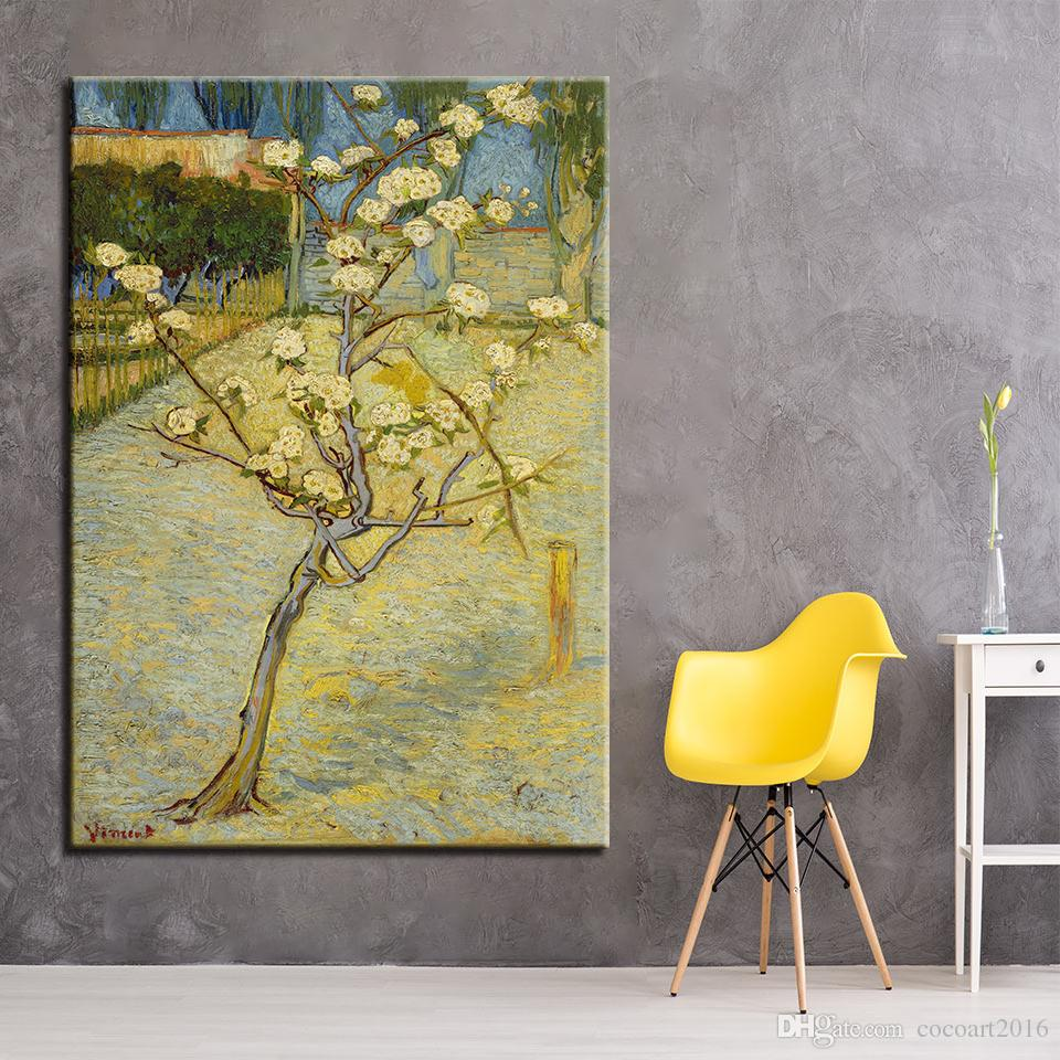 2018 Canvas Painting Wall Art Room Hd Prints Small Pear Flower Tree ...