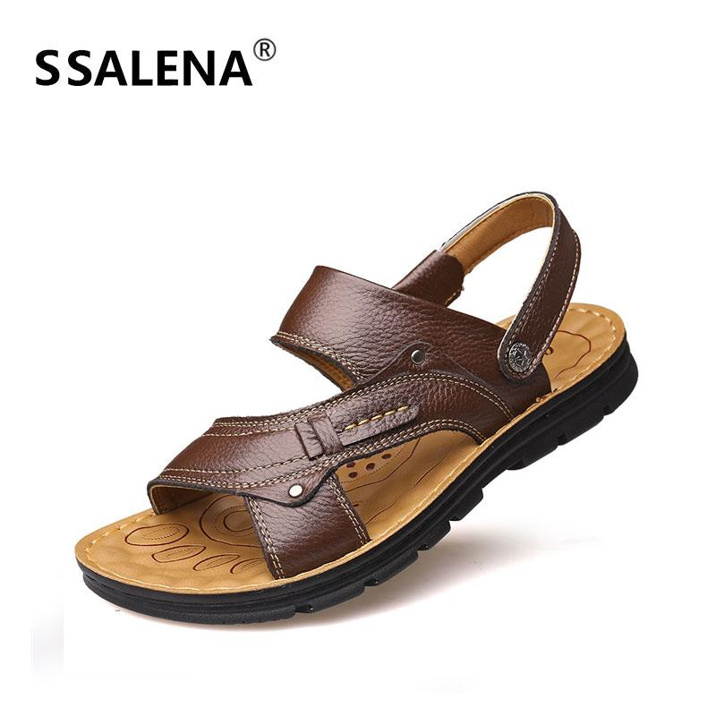 259c276bafa9 Men Summer Lightweight Sandals Male Outdoor Breathable Flat Sandals Men  Classic Open Toe Anti Slip Leisure Shoes AA60357 Gold Wedges Red Wedges From  ...