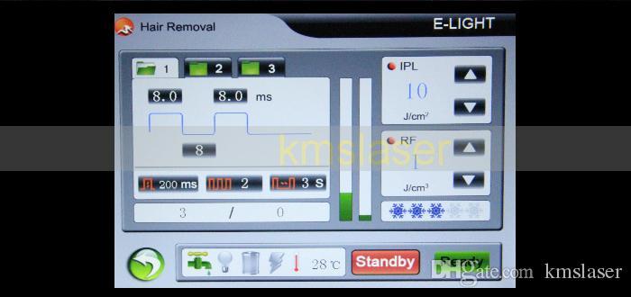 Super Elight IPL RF Máquina de eliminación de vello Puntos de rejuvenecimiento de la piel Eliminación de la cicatriz de la peca Removedor de pigmento Tratamiento de la piel