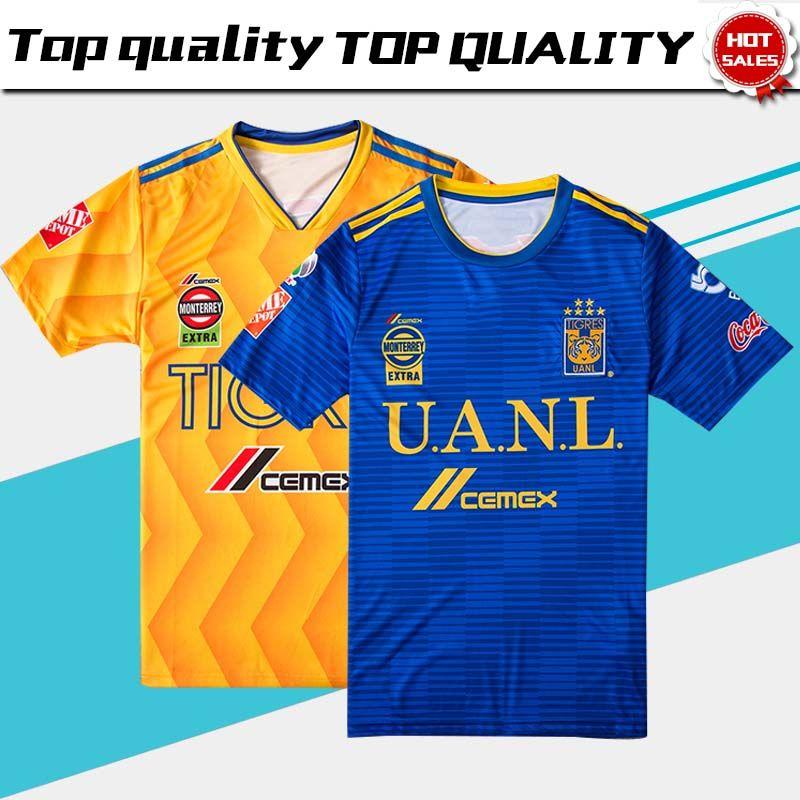 Nuevo 2019 Tiger Home Yellow Soccer Jersey 2018 Tigres UANL Visitante Blue  Soccer Shirt 18 19 Mexico Club Football Uniform Venta Por Xctc5320 7f2c57313d6cd