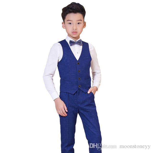 b6f6362e80 2019 Suit For Boys Children Prince Stage Performance Formal Suit Wedding  Birthday Flower Boys School Suit Ceremony Chorus Costume N89 From  Moonstoneyy