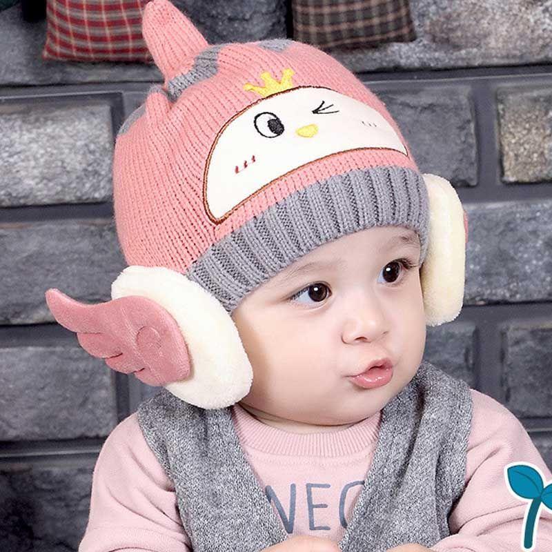 cdd5e53aa5963 Winter Baby Earflap Girl Boy Peach Children Hat Knit Hat Cold Cap Warm BABY  WINTER HAT baby cartoon cap