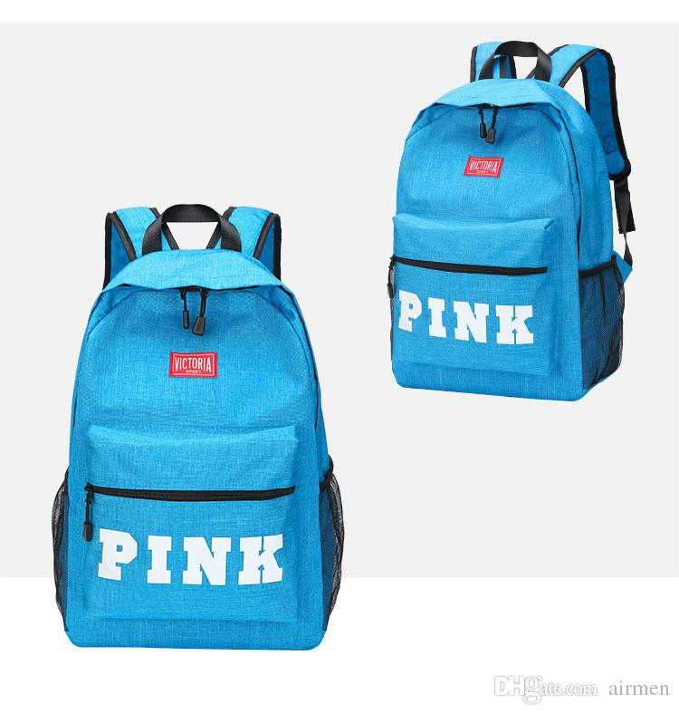 0863cf5631 Love Pink Backpack Pink Letter Shoulder Bag Teenager Students Unisex School  Book Bags Sports Travel Laptop Bag Daypack Backpacks 2018 Online with ...