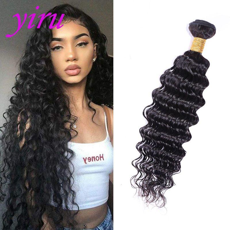 Brazilian Virgin Hair Deep Wave One Bundle Human Hair Extensions 8