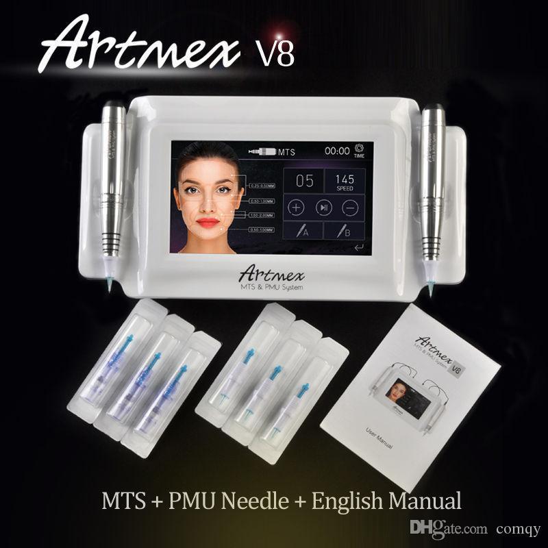 Artmex V8 перманентный макияж машина профессиональный долгое время лайнера татуировки microblade бровей ручка микропигментации оборудование