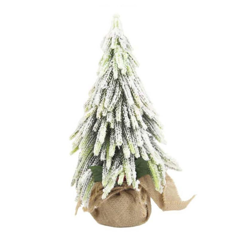 mini christmas tree green snow artificial christmas trees small diy decorative xmas trees home wedding party decoration v3 christmas table decorations - Small Decorations For Christmas