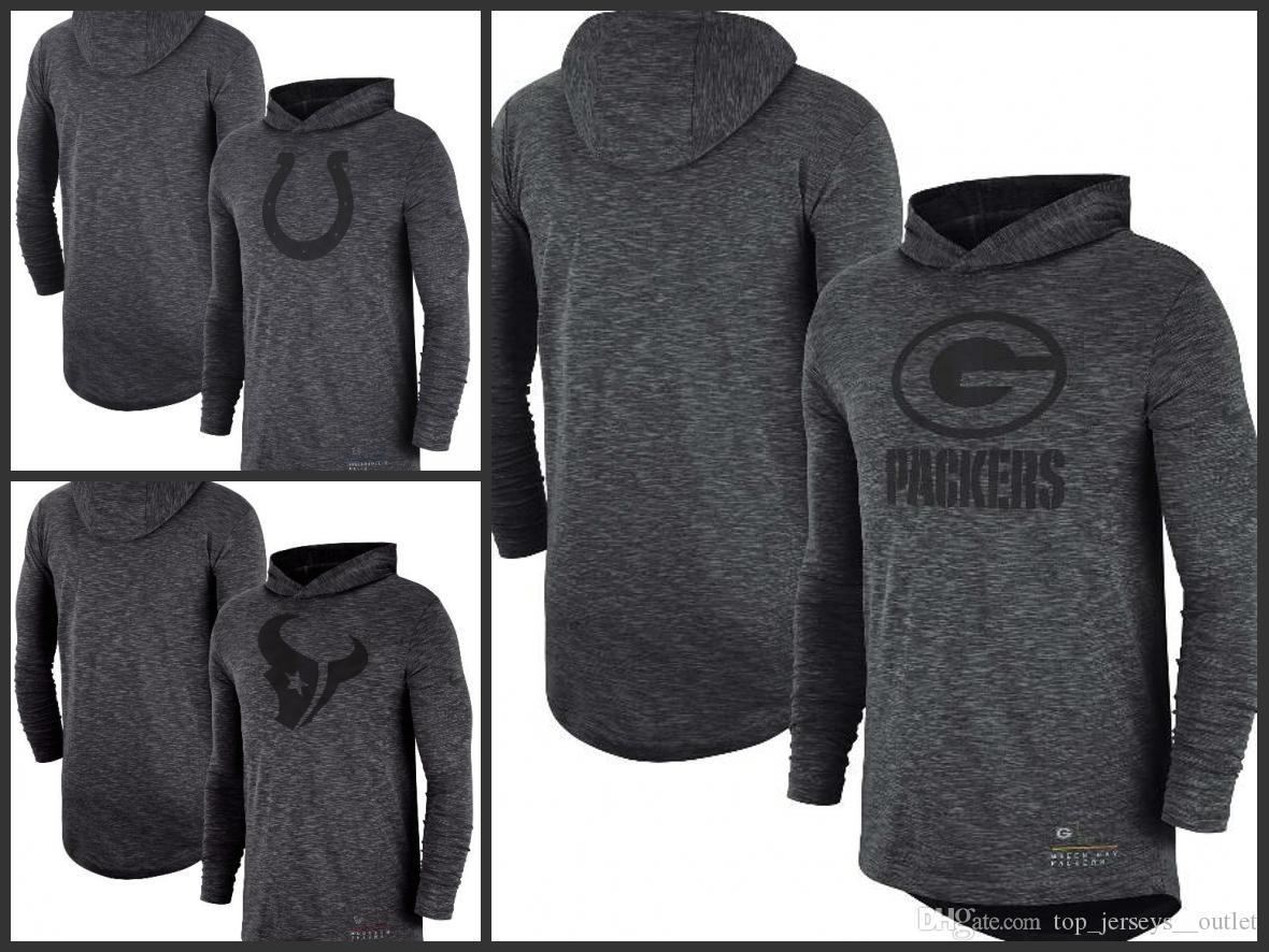 77fcdb98 Indianapolis Colts Houston Texans Green Bay Packers Men Heathered Charcoal  Fan Gear Tonal Slu b Hooded Long Sleeve T-Shirt