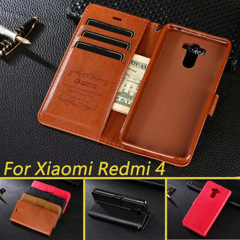 detailed look edf9b 86949 Luxury Wallet Case For Xiaomi Redmi 4 Pro Redmi 4 Book Flip Cover PU  Leather Stand Phone Bags Cases For Xiaomi Redmi 4 Pro