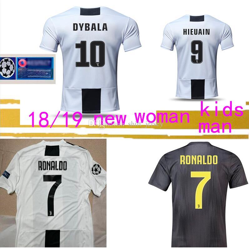 d9b8be0c1 2019 Thailand RONALDO Soccer Jerseys DYBALA 18 19 Football Kit Shirt Fans Player  Version Champion League MEN WOMEN KIDS JUVE Gift From Shirt jersey