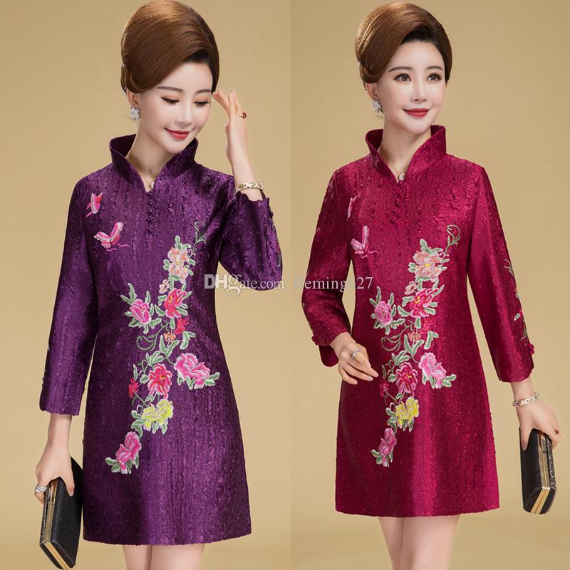5dc3b1a37623c 2019 Chinese Traditional Outfit Tang Suit Style Shirt National Trend  Embroidery Vintage Stand Collar Outerwear Cheongsam Top Women S Blouse From  Fleming627