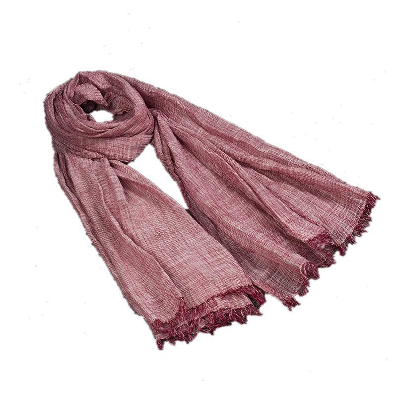 nuovo stile 94986 5bfaf Vintage Marca Inverno Sciarpa Per Le Donne Warm LIC Sciarpe Involucri  Scialli di Lino Femminile Coperta Triangolo Sciarpe Femminili 7 Colori