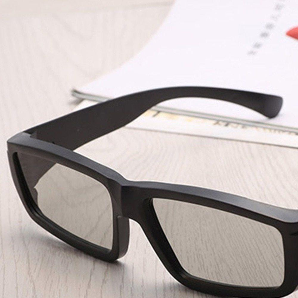 Clear Polarizing 3D Movie Glasses Unisex Plastic Frame For 3D TV Cinemas Fashion High Quality