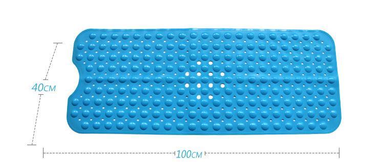 2018 New Bath Shower And Tub Mat PVC Anti-slip Bathtub Mat With Suction Cup Home Decor 40*100cm HH7-1048
